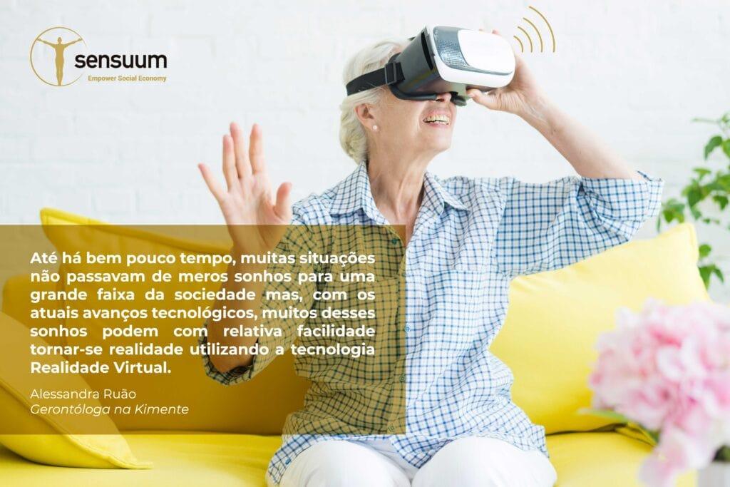 Uso da Realidade Virtual com a população Sénior